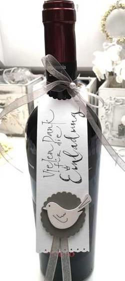 Etikette Kalligrafie