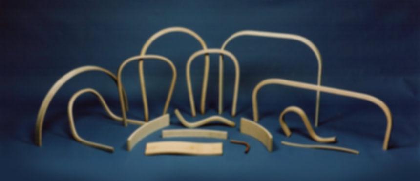 Bentwood Components. Custom Bendings. Edge Bands. Table Skirts. Chair Backs and Bench Bow Backs. Rocker Runners. Wood Slats. Wood Splats.