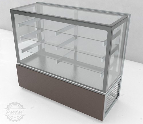 Vitrine Natural Vidro Reto PAGELAR 1500MM