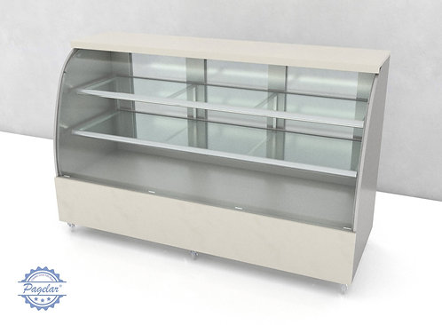Vitrine Natural Vidro Curvo PAGELAR 2000MM