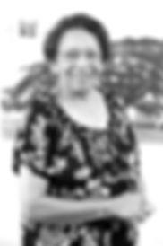 Black and white photo of Peggy Antrobus, Feminst author, DAWN co-founder, Caribbean