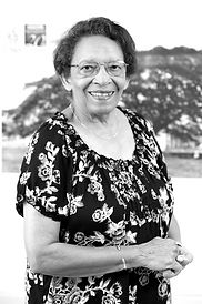 Black and white photo of Peggy Antrobus, Feminst author, DAWN co-founder, Caribbean