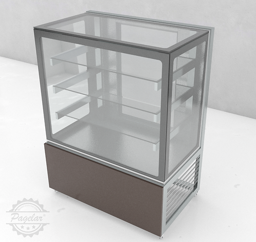 Vitrine Natural Vidro Reto PAGELAR 1000MM