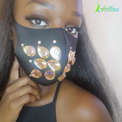 Gemmed Face Mask Gold
