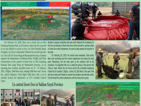 RTAF & DEPARTMENT OF DISASTER PREVENTION COLLABORATE ON WILDFIRE CONTROL MISSIONS AT HIGH ALTITUDE
