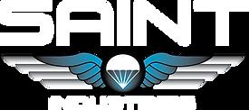 Saint logo - wt text bk outline.png
