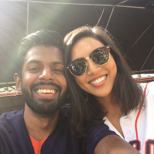 Adi's birthday at an Astros game