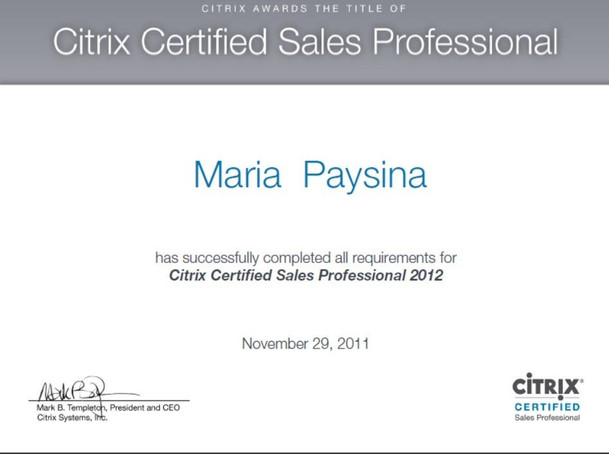 Citrix Certified Sales Proffesional