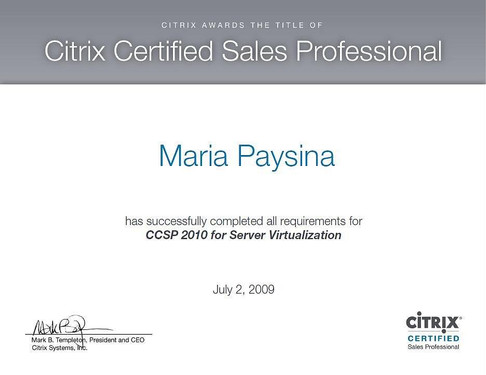 CCSP 2010 for Server Virtualization