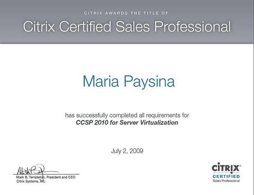 CCSP 2010 for Server Virtualization