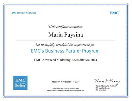 EMC Advanced Marketing Accreditation