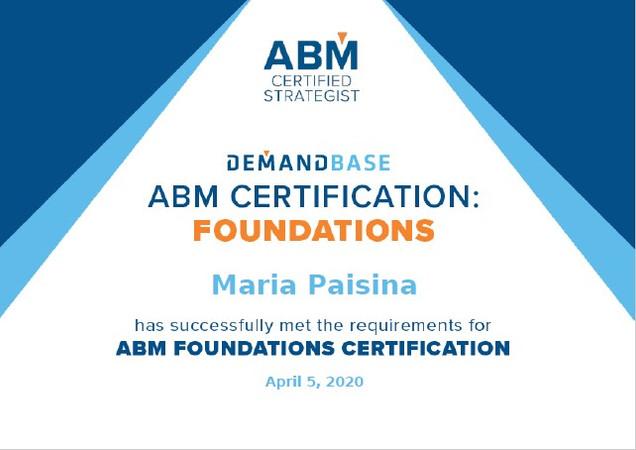 ABM Certification: foundations