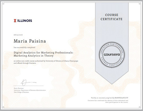 Digital Analytics for Marketing Professionals: Marketing Analytics in Theory