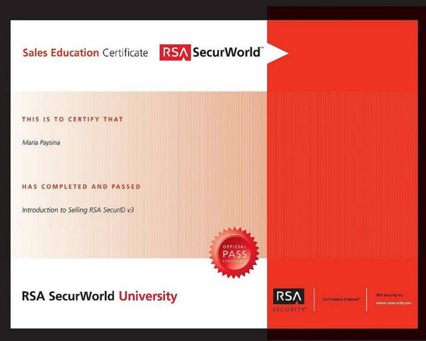 Introduction to selling RSA SecureID