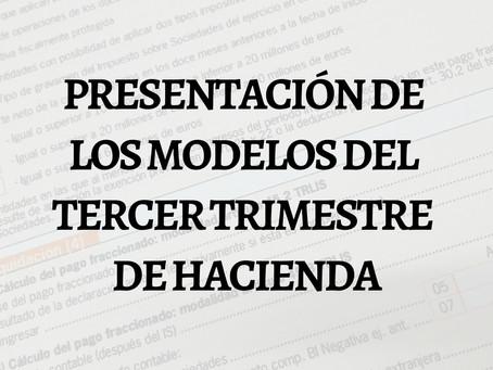 ¡SE ACERCA EL PLAZO DE PRESENTACIÓN DEL TERCER TRIMESTRE DE HACIENDA!