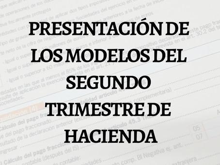 ¡SE ACERCA EL PLAZO DE PRESENTACIÓN DEL SEGUNDO TRIMESTRE DE HACIENDA!
