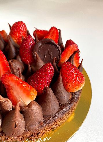 Bolo Brownie   Morango e Chocolate