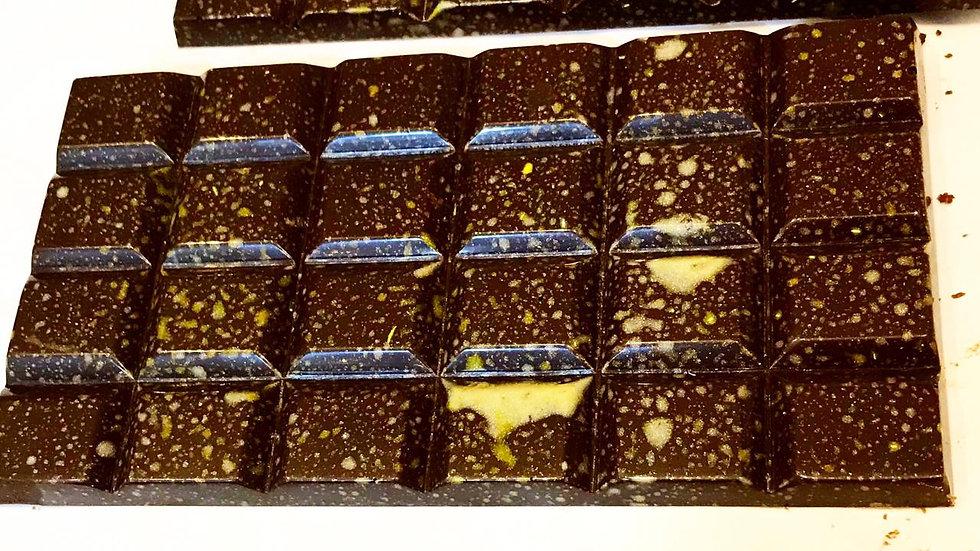 Barra de Chocolate 70% e Café