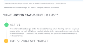 MLS guidance under COVID-19