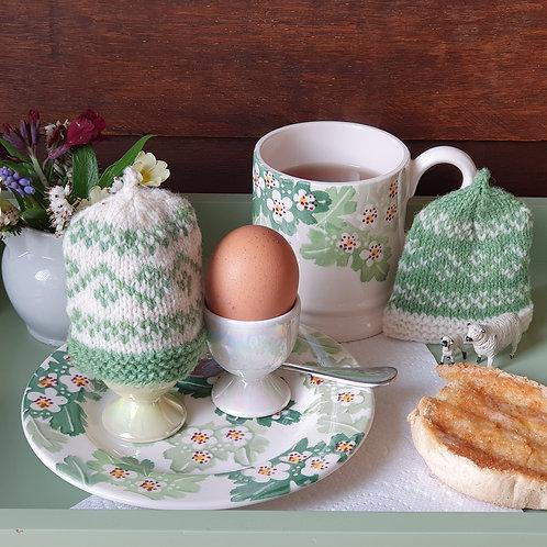 Siddlesham egg warmer wool and pattern set