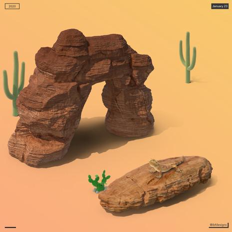 Desert and Lizard