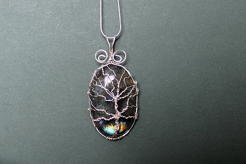 Labradorite Tree of Life Talisman