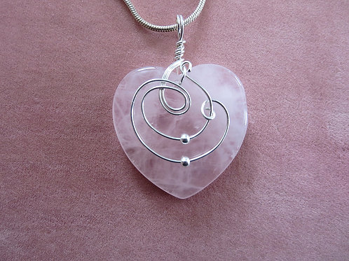 Rose Quartz Loving Heart Talisman