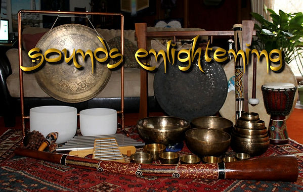 Musical instruments, tibetan and crystal bowls, gongs and didgeridoo etc