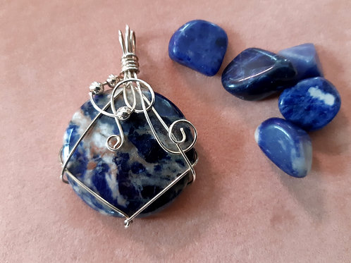 "Namibian Blue Sodalite ""Universe of Possibilities"" Talisman"