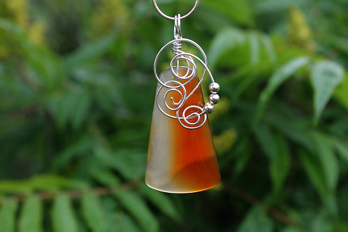 Burnt Orange Carnelian Pendant