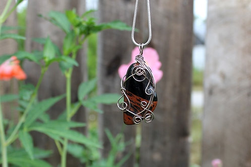 Mahogany Obsidian Stone of Closure Talisman