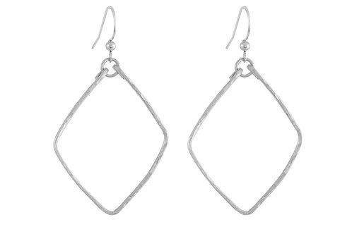 Diamond Dangles-silver filled