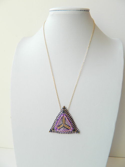 Triangle Hand Beaded necklace