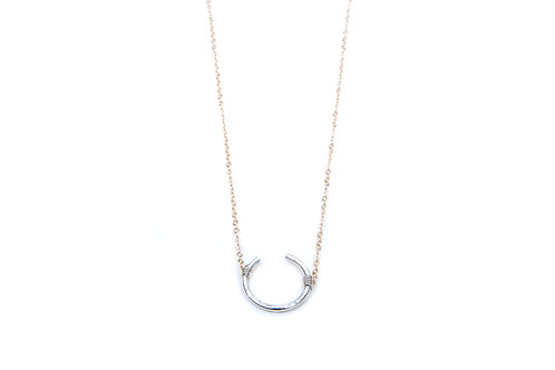 Open Circle-Regular- 14K GF chain