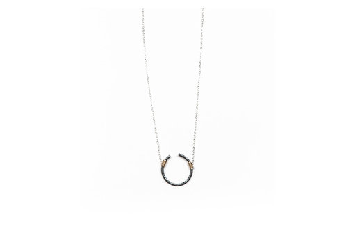 Open Circle- Large- sterling chain