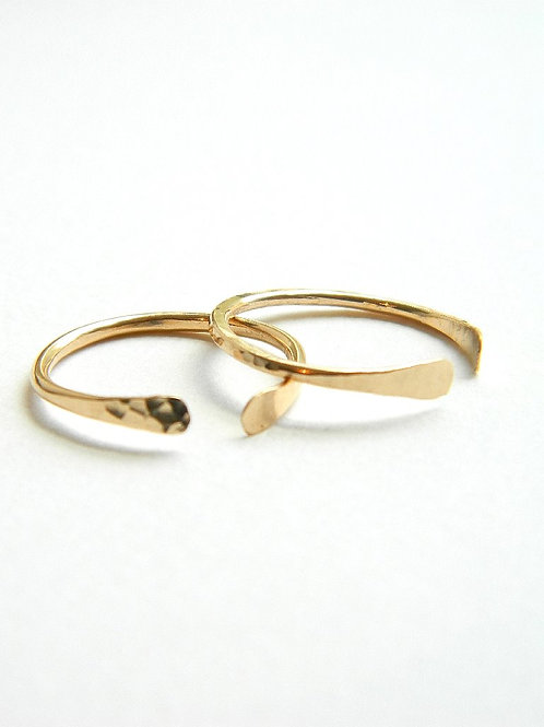 Open Circle-stacking rings