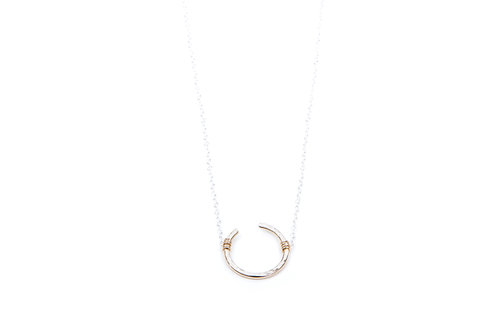 Open Circle-Mini- sterling chain