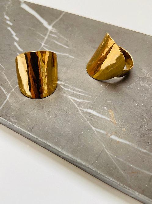 Shield brass ring