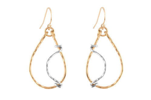 Cosmo Wave Hoops-Gold