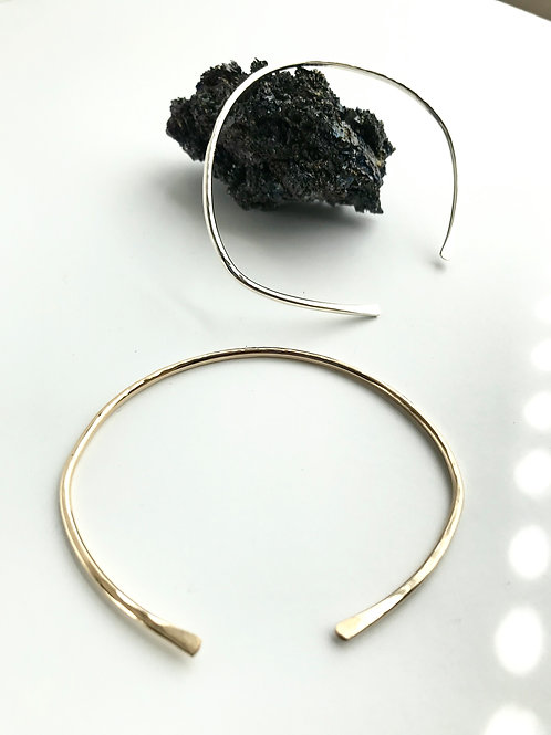 14K gold and Silver Filled Bangles