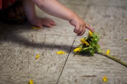 Flower on the Floor (as grandma lay dying)