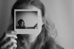 Angela in a Polaroid