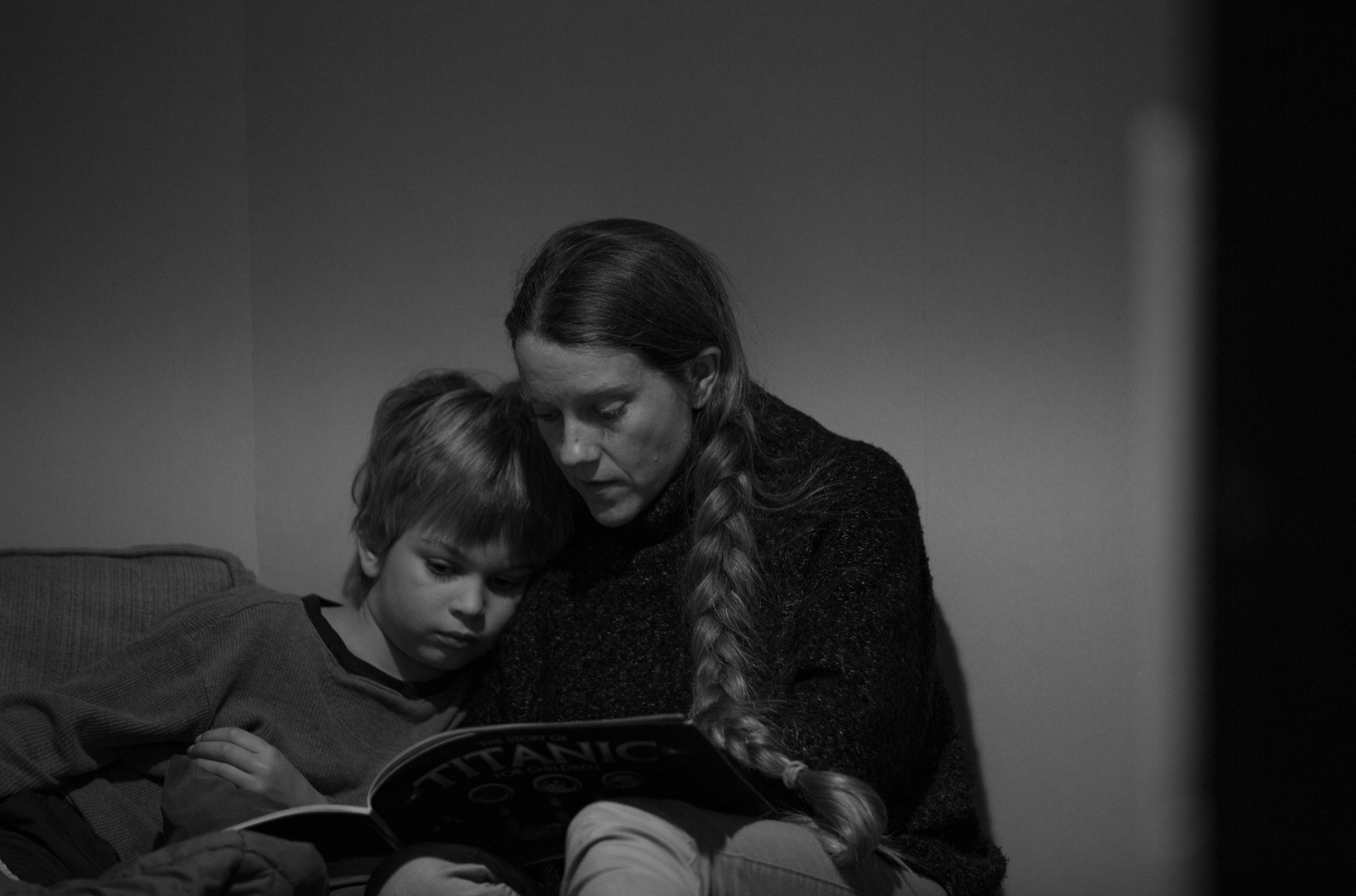 Tina Read to Eli, Primary Bedroom, 2019