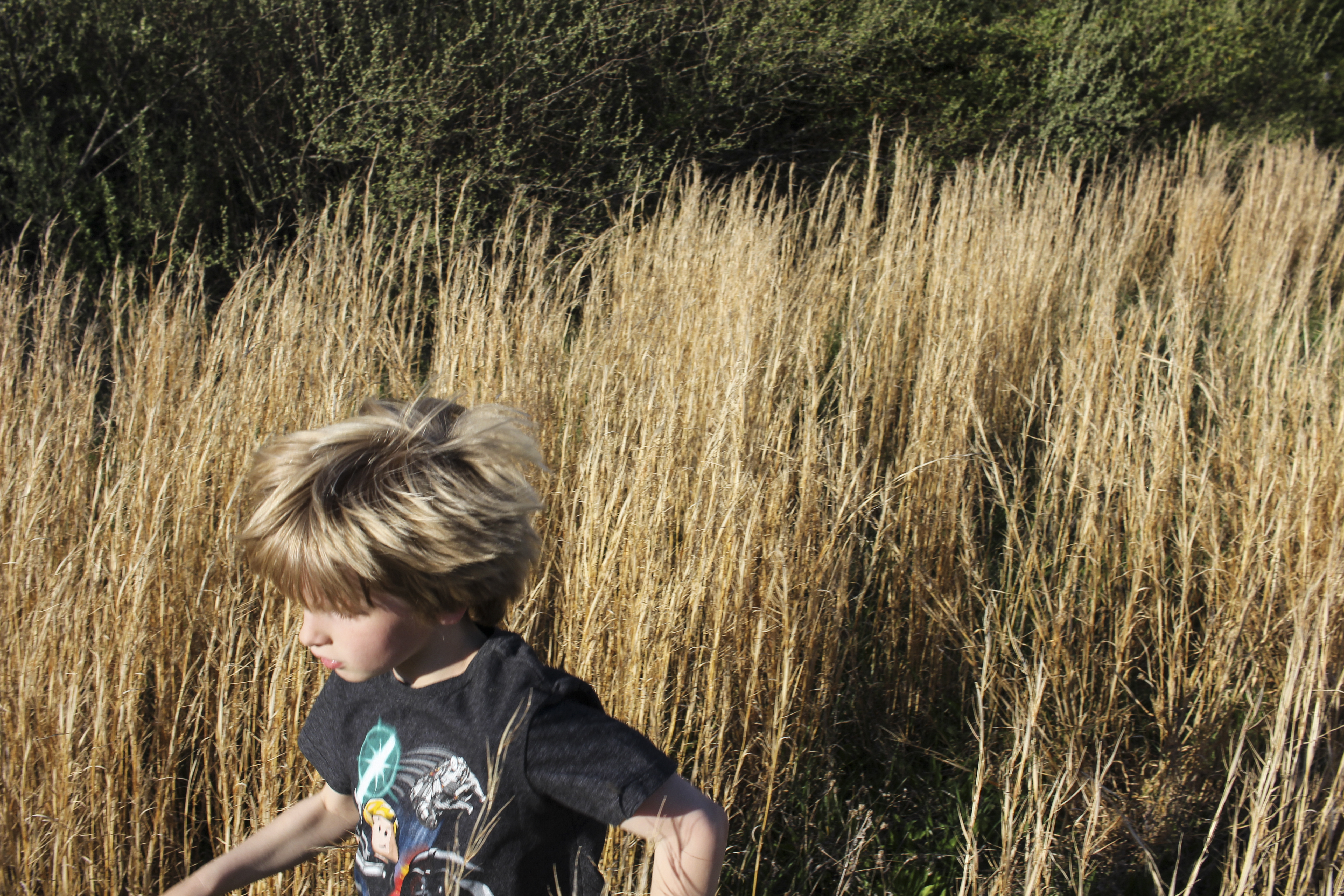 Simon Running in a Field