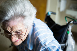 Listening to Her Grandson (while deaf & dying)