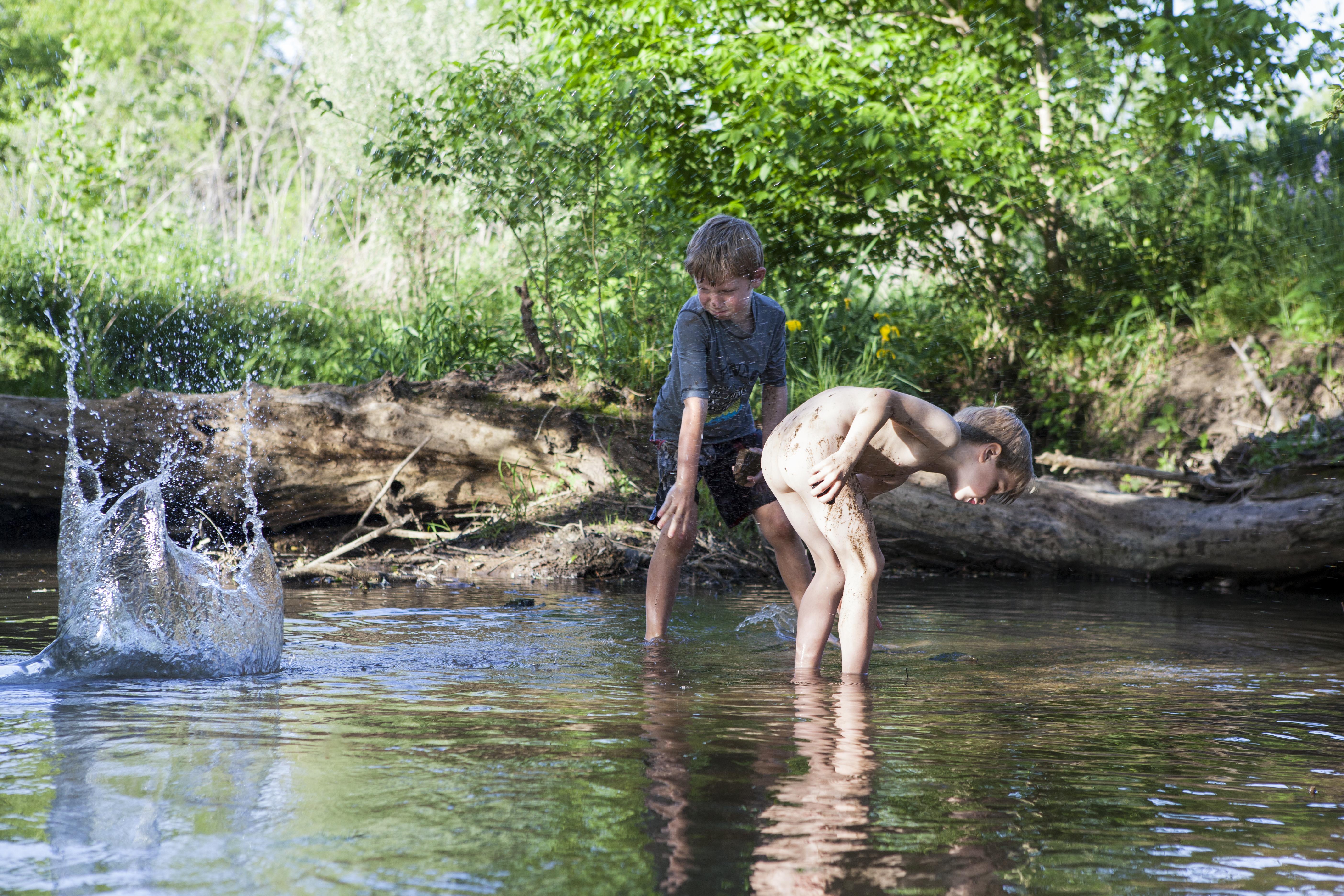Friends in a Creek