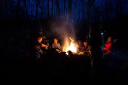 Campfire at Crabtree Falls