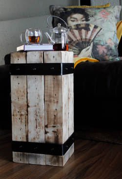 Strapped Block Side Table