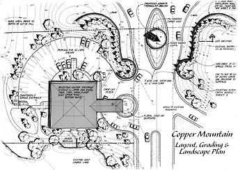 proposed Copper Mountain entrance plan by Land Art Design