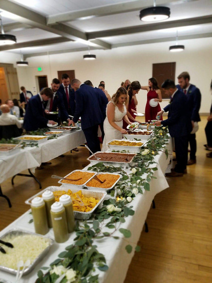 Here is a Great Example of our 1st Service. We provided Freshly Cooked Party Trays For Lovely Mrs. Mendoza. When it came to feeding 200+ People, We were able to accomplish the task & Had food on everyones plate in less than 30 minutes. We Can Deliver The platters and set them up lovely as seen, or you can come pick them up from us and take them to the party so when you arrive, you become the life of the party. Order Taqueria 805 Party Platers for your Next event, Big or Small, Grand and beautiful Wedding or SuperBowl Party, Our Platers are perfect for any event!